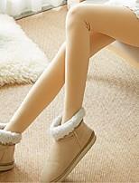cheap -Women's Modern Style Nylon Medium Fleece Lined Legging,Solid Beige