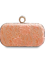 cheap -Women Bags Polyester Evening Bag Buttons Flower(s) Lace for Wedding Event/Party All Season Blushing Pink Blue