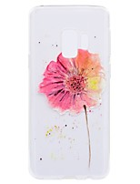 cheap -Case For Samsung Galaxy S9 Plus S9 Transparent Pattern Back Cover Flower Soft TPU for S9 S9 Plus S8 Plus S8 S7 edge S7 S6 edge S6 S5 Mini