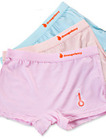 cheap -Girls' Solid All Seasons Underwear, Cotton Micro-elastic Simple Blushing Pink