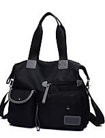 cheap -Women's Bags Nylon Tote Zipper for Shopping Casual All Seasons Purple Red Black Blue