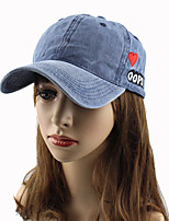 cheap -Women's Work Casual Cotton Sun Hat Baseball Cap - Solid Heart Letter, Stylish Embroidery
