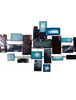 Недорогие -Декор стены Металл Абстракция Деревня Предметы искусства,Металлические украшения на стену из 1