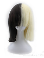 cheap -Cosplay Women Synthetic Wig Short Straight Black Blonde Ombre Color Natural Wigs Costume Wig