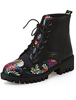 cheap -Women's Shoes Nubuck leather PU Winter Fall Comfort Novelty Combat Boots Boots Low Heel Pointed Toe Booties/Ankle Boots Applique for
