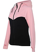 cheap -Women's Running Jacket Long Sleeves Quick Dry Jacket for Running/Jogging Cotton Loose Grey Pink White XXL XL L M S