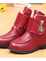 cheap -Girls' Shoes PU Winter Fall Comfort Snow Boots Boots Booties/Ankle Boots for Casual Red Black White