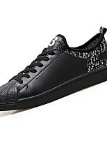 preiswerte -Schuhe PU Frühling Herbst Komfort Sneakers für Normal Weiß Schwarz Schwarz/weiss
