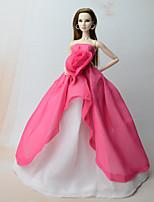Недорогие -Платья Платье Для Кукла Барби Розовый Платье Для Девичий игрушки куклы