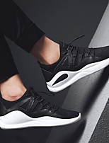 cheap -Men's Shoes Leatherette Winter Fall Comfort Sneakers for Casual Black/White Black