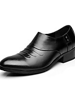 cheap -Men's Shoes Real Leather Spring Fall Formal Shoes Loafers & Slip-Ons for Party & Evening Office & Career Black