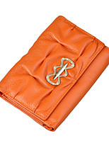 cheap -Women Bags Cowhide Wallet Ruffles for Shopping Casual All Season Orange Blue