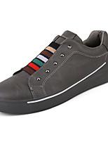 preiswerte -Herrn Schuhe PU Leder Frühling Herbst Leuchtende Sohlen Sneakers Niete für Normal Weiß Schwarz Grau