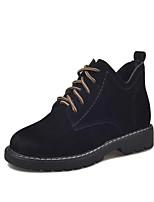 Недорогие -Жен. Обувь Полиуретан Весна Осень Удобная обувь Ботинки Плоские для Черный Коричневый