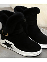 cheap -Women's Shoes Nubuck leather PU Winter Fall Comfort Snow Boots Boots Wedge Heel for Casual Camel Black