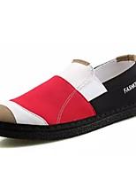Недорогие -Муж. обувь Полотно Весна Осень Удобная обувь Мокасины и Свитер для Повседневные Серый Розовый и белый