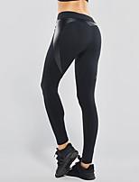 abordables -Mujer Pantalones ajustados de running Eslático Medias/Mallas Largas Yoga Jogging Elástico Apretado Negro Negro/Rojo S M L XL XXL