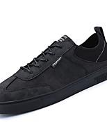 Недорогие -Муж. обувь Полиуретан Осень Удобная обувь Кеды для Повседневные Черный Серый Коричневый