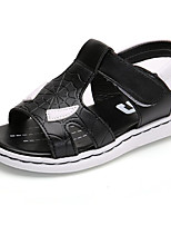 cheap -Boys' Shoes Leatherette Spring Summer Comfort Sandals for Casual Black White