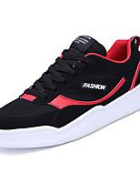 Недорогие -Муж. обувь Нубук Весна Осень Удобная обувь Кеды для Атлетический Черно-белый Черный/Красный