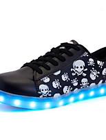Недорогие -Для мужчин обувь Полиуретан Зима Осень Удобная обувь Кеды для Повседневные Черный