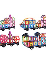 cheap -Magnetic Blocks 183 pcs Parent-Child Interaction Transformable Toy Truck Plane Square Circular Car Children's Gift
