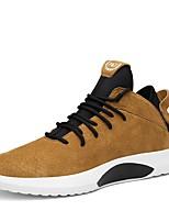 Недорогие -Муж. обувь Полиуретан Весна Осень Удобная обувь Кеды для Повседневные на открытом воздухе Черный Серый Коричневый