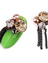Недорогие -2шт роскошь набор шнек сплава драгоценность украшение ногтей