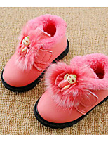 cheap -Girls' Shoes Leatherette Spring Fall Comfort First Walkers Boots Booties/Ankle Boots for Casual Pink Black