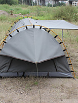 cheap -Deerke 1 person Tunnel Tent Single Camping Tent One Room Fold Tent Windproof Rain-Proof Heat Retaining for Camping / Hiking Camping /