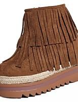 economico -Da donna Scarpe Cashmere Inverno Stivali Oxfords Quadrato Punta tonda per Casual Nero Cammello