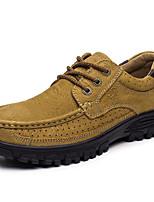 Недорогие -Для мужчин обувь Кожа Зима Осень Удобная обувь Кеды для Повседневные Военно-зеленный Верблюжий