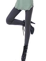 preiswerte -Damen Mittel Polyester Solide Einfarbig Legging,Schwarz Dunkelgray Grau