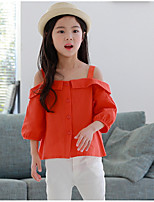 cheap -Girls' Solid Shirt,Polyester All Seasons ¾ Sleeve Simple Orange