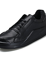 cheap -Men's Shoes PU Leather Spring Fall Comfort Sneakers for Casual White Black Black/White