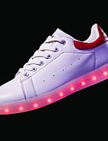 economico -Da donna Scarpe PU sintetico Primavera Autunno Comoda Scarpe luminose Sneakers Piatto Punta tonda per Casual Bianco Nero