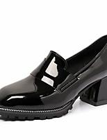 preiswerte -Damen Schuhe PU Frühling Komfort High Heels Blockabsatz Quadratischer Zeh für Normal Schwarz Grün