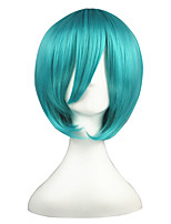 cheap -14inch Short Green Vocaloid Mikuo Synthetic Anime Cosplay Wig CS-001F