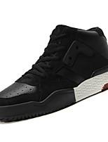 Недорогие -Муж. обувь Полиуретан Весна Осень Удобная обувь Кеды для на открытом воздухе Белый Черный