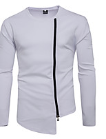 cheap -Men's Daily Sweatshirt Solid Round Neck Micro-elastic Cotton Long Sleeve Winter