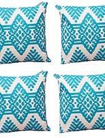cheap -4 pcs Cotton/Linen Pillow Cover,Geometric Art Deco Abstract