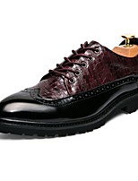 cheap -Men's Shoes Synthetic Microfiber PU Spring Fall Driving Shoes Formal Shoes Oxfords for Office & Career Party & Evening Burgundy Black