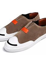 Недорогие -Муж. обувь Полиуретан Весна Осень Удобная обувь Кеды для Повседневные Черный Серый Темно-русый