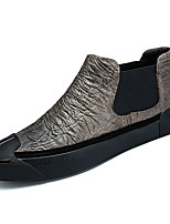 Недорогие -Муж. обувь Наппа Leather Весна Осень Удобная обувь Кеды для Повседневные Черный Хаки
