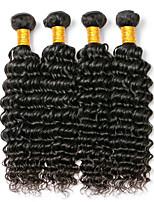 Недорогие -Бразильские волосы Крупные кудри Ткет человеческих волос 4 шт. в упаковке Человека ткет Волосы