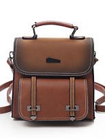 cheap -Women's Bags PU Backpack Zipper for Casual All Seasons Black Red Brown Dark Brown