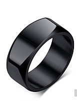 cheap -Men's Band Rings Classic Fashion Titanium Steel Circle Jewelry Wedding Party