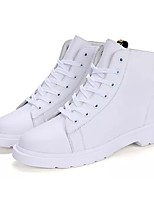 cheap -Men's Shoes PU Spring Fall Fashion Boots Comfort Boots Mid-Calf Boots for Casual White Black Wine