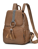 cheap -Unisex Bags PU Zipper for Casual All Seasons Black Brown