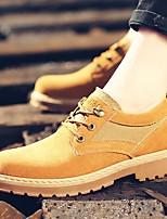 preiswerte -Herrn Schuhe PU Winter Herbst Komfort Sneakers für Normal Schwarz Beige Gelb